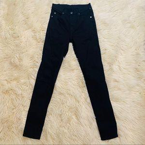 Cheap Monday Nordstrom black skinny jeans